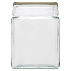 Waitrose Cooking 1.2 litre square storage jar