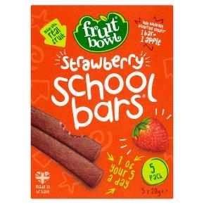 Fruit Bowl school bars strawberry 5 pack 100g