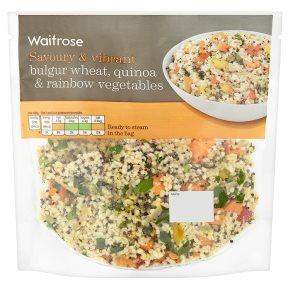 Waitrose Bulgur Wheat & Rainbow Veg