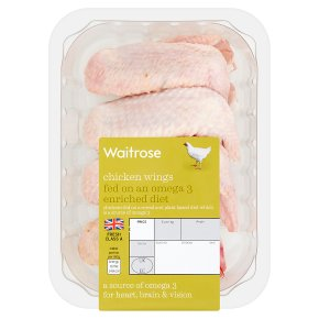 Waitrose Chicken Wings Fed on Omega3 Enriched Diet