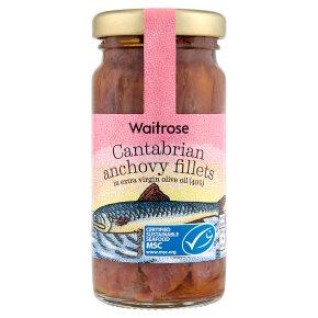 Waitrose MSC anchovy fillets in olive oil