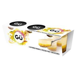 Gu 3 mango & passion fruit mini cheesecakes