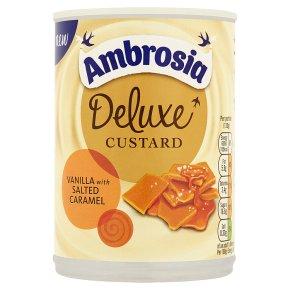 Ambrosia Deluxe Vanilla Custard With Salted Caramel