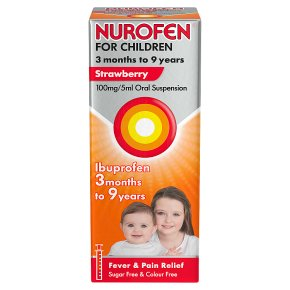 Nurofen for childen, strawberry flavour