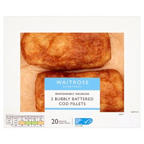 Waitrose Bubbly Battered Cod