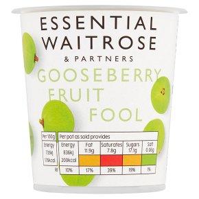 Waitrose gooseberry fruit fool