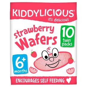 Kiddylicious 10 Strawberry Wafers