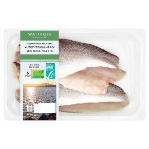 Waitrose 4 Sea Bass Fillets