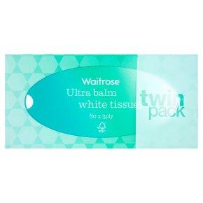 Waitrose ultra balm white tissues