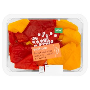 Waitrose World Deli Sweet & Sour Peppers Toasted Coriander