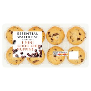 essential Waitrose 8 Mini Chocolate Chip Muffins