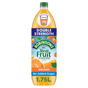 Robinsons no added sugar orange squash, double concentrated