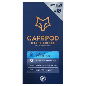 Cafépod Decaffeinated 10 Capsules