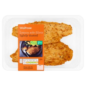 Waitrose 2 lemon sole fillets in herb seasoning