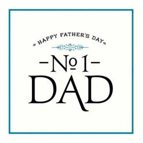 No.1 Fathers Day Card