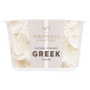 Waitrose 1 Greek natural strained yogurt