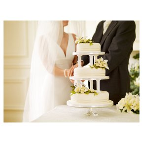 ready made wedding cakes waitrose ivory amp sugar flower wedding cake fruit 3 18968