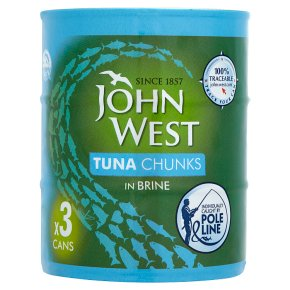 John West Tuna Chunks in Brine Pole Line