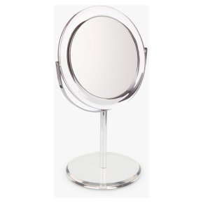 John Lewis Clear Round Acrylic Mirror