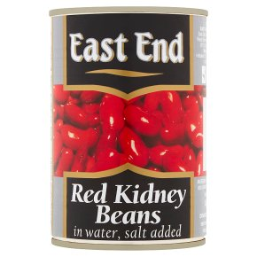 East End red kidney beans in water salt added