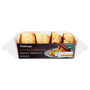 Waitrose 4 Cherry Bakewell Scones