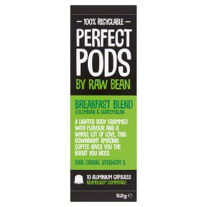 Perfect Pods by Raw Bean 10 Breakfast Blend