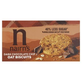 Nairn's oat biscuits dark chocolate chip