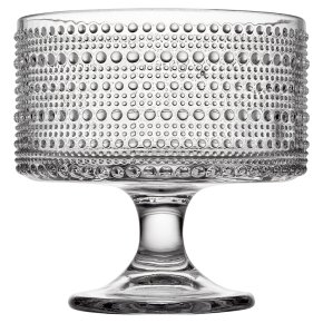 Waitrose Bobble Clear Trifle Bowl
