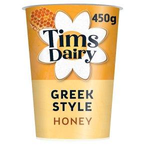 Tims Dairy Greek style yogurt with honey