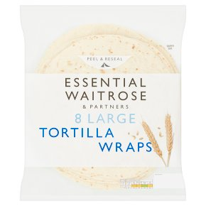 essential Waitrose 8 Large Tortilla Wraps