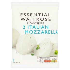 essential Waitrose 2 Italian mild Mozzarella cheese, strength 1