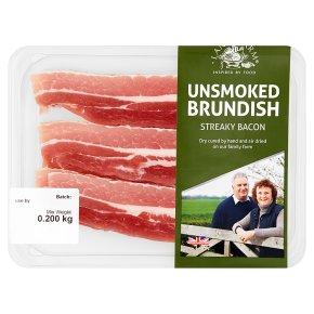 Lane Farm Unsmoked Brundish Streaky Bacon