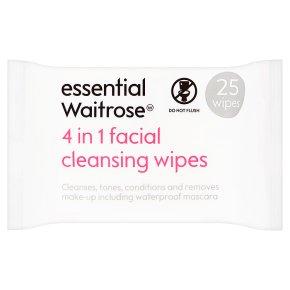 essential Waitrose 4 in 1 Facial Wipes