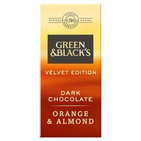 Green & Black's Velvet Edition Dark Chocolate Orange & Almonds Chocolate Bar