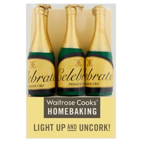 Waitrose Cooks' Homebaking celebration bottle candle