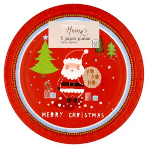 Christmas Paper Plates.Waitrose Home Merry Christmas Paper Plates