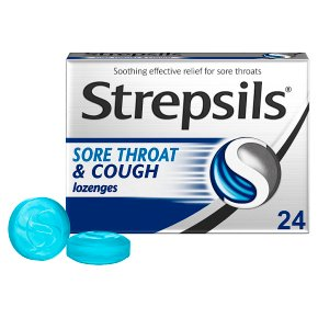 Strepsils 24 sore throat & cough lozenges