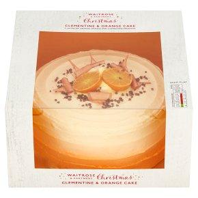 Waitrose Xmas Clementine & Orange Cake