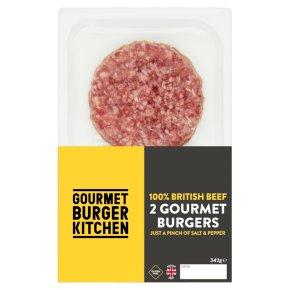 Gourmet Burger Kitchen 2 British Beef Burgers Waitrose Partners