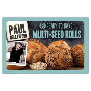 Paul Hollywood 6 Ready to Bake Multi-Seeded Rolls