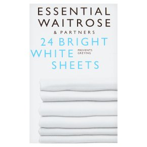 essential Waitrose bright white sheets laundry detergent