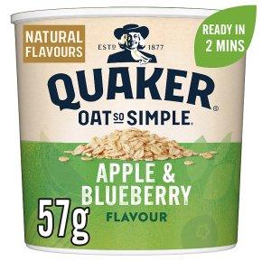Quaker Oats So Simple apple & blueberry porridge cereal pot