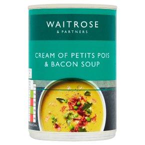 Waitrose Cream of Petits Pois & Bacon Soup