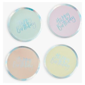 Ginger Ray Birthday Paper Plates