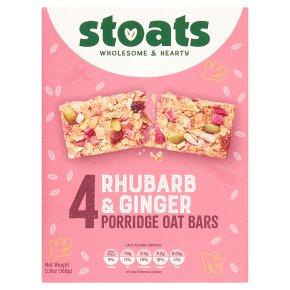 Stoats Rhubarb & Ginger Porridge Oat Bars