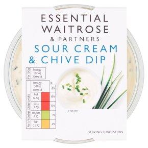 essential Waitrose sour cream & chive dip