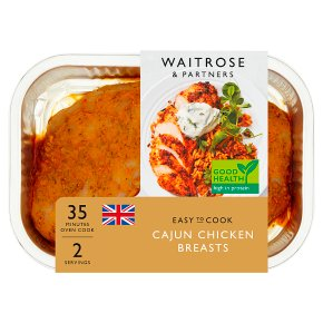 Waitrose Easy To Cook cajun chicken breasts