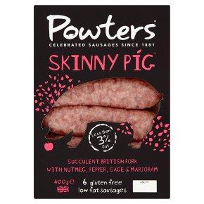 Powters 6 low fat sausages