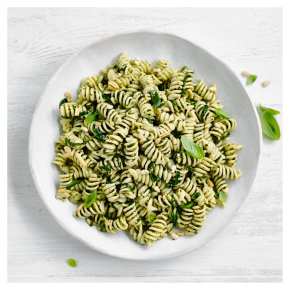 Pesto Pasta with Spinach and Pine Nuts