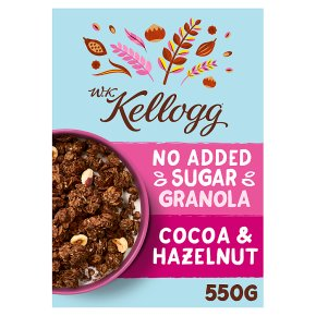 W K Kellogg No Added Sugar Cocoa Granola